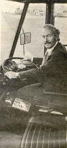 Team LOTUS Race Transporter, Colin Chapman himself behind the wheel!