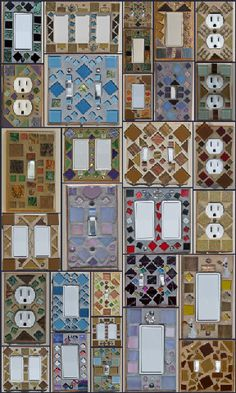 Judy Evans' Collection Stained Glass and Mosaic Switch Plates