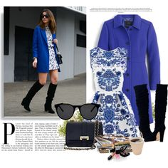 Blue :) by cherry-bh on Polyvore featuring moda, J.Crew, Aspinal of London, Smoke & Mirrors, Nearly Natural and Chanel