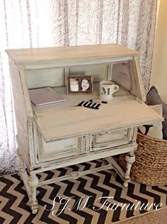 Antique secretary desk,painted in valspar chalk paint, distressed and given an antique finish with valspar dark wax (SJM furniture)