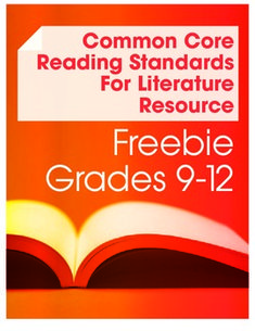Common Core Reading Literature--Anchor Standard #2 Freebie (Grades 9-12). Includes readings, graphic organizers and essay assignment.