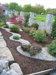 Tips for Building Ponds in Your Backyard Driveway Landscaping, Landscaping With Rocks, Outdoor Landscaping, Small Gardens, Outdoor Gardens, Pool Plants, Front Garden Landscape, Ponds Backyard, Garden Stones