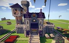 Medium Castle with a clock tower and the start of a floating island. The inside is not furnished.