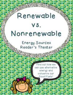 Renewable vs Nonrenewable Energy Reader's Theater Skit and Debate Pack