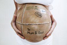 Postcard Baby Bump Art Photo