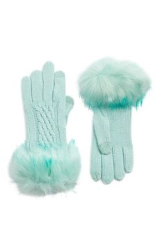 $32 Free shipping and returns on CC Faux Fur Trim Knit Tech Gloves at Nordstrom.com. Tonal faux fur trim upgrades these tech-compatible gloves detailed with touchscreen technology in the tips of the thumb and forefinger so you can stay warm, stylish and in touch.