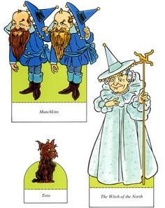 Wizard of Oz Paper Dolls by Ted Menten, Dover. The artwork by Ted Menten is based on the original illustrations by W. Frank Baum's collaborator on a number of books Paper Dolls Shoes, Storybook Characters, Ted, Paper Dolls Printable, Dover Publications, Vintage Paper Dolls, Paper Toys, Wizard Of Oz, Free Paper