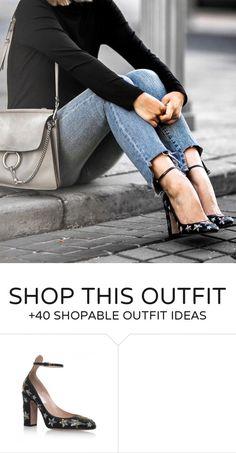 #winter #fashion /  Black Top   Star Print Heels