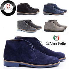 Scarpe Uomo Polacchini Vera Pelle Stivali Francesine Sneakers Classiche S32