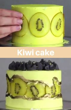 cake decorating videos Lovely KIWI cake Get Inspired! Cake Decorating Frosting, Cake Decorating Designs, Cake Decorating Techniques, Cake Decorating Tutorials, Easy Cake Decorating, Food Cakes, Cupcake Cakes, Kiwi Cake, Cake Recipes