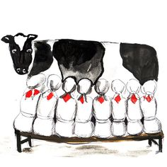 12 Days of Christmas Card - 8 Maids a Milking £2.00