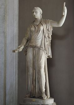 The statue is a Roman copy of a Greek original of the end of the cent. The head is plaster cast from ancient head. Rome, Vatican Museums, Pius-Clementine Museum, Room of the Greek Cross, 21 Ancient Egypt Art, Ancient Artifacts, Cleopatra Statue, Battle Of Actium, Rome, Alexandre Le Grand, 17th Century Art, Art Prompts, Roman History