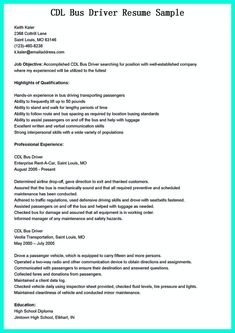 nice simple but serious mistake in making cdl driver resume check more at http - Free Resume Check