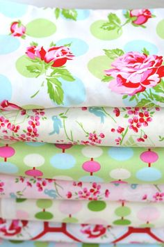 Tanya Whelan has a new fabric line coming out in December!!  Isn't it pretty?!