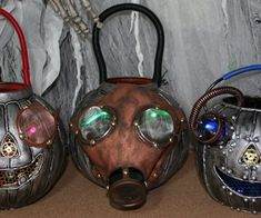 Here is an affordable way to turn your Halloween Trick-or-Treat plastic pumpkin bucket into a Steampunk Pumpkin. All you need is a few things lying ar...