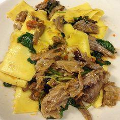 Pappardelle with Lamb Neck Ragu and Orange Ragu Recipe, Greenwich Village, Cheesesteak, Lamb, Nyc, Beef, Orange, Ethnic Recipes, Food