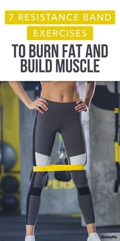 7 resistance band exercises to burn fat and build muscle - 7 Wid . - 7 resistance band exercises to burn fat and build muscle – 7 resistance band exercises to burn fa - Home Exercise Routines, At Home Workouts, Exercise Moves, Band Workouts, Band Workout For Legs, Glute Workouts, Exercise Bands, Daily Exercise, Dumbbell Workout