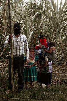 Familia Zapatista  en la corta de la caña - foto por Aldo Ortiz Reyes http://flic.kr/p/iRXM5A