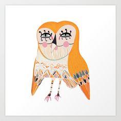 owl Art Print by Timotheus Mak - $20.00