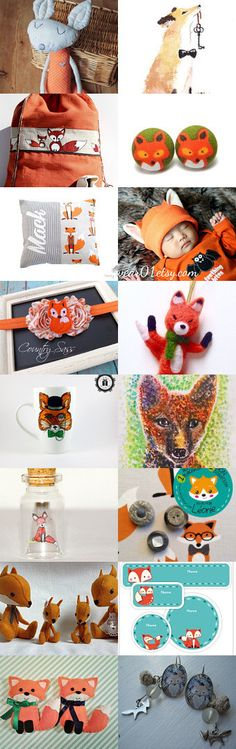 The season of foxes by Renāte Bendika on Etsy--Pinned with TreasuryPin.com