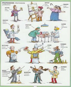 #1351 Parole Inglesi Per Piccoli e Grandi - #Illustrated #dictionary - #professions
