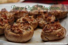 Bacon Stuffed Mushrooms Recipe - My Organized Chaos
