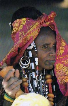 Africa | Fulani woman.  Markoye, Burkina Faso || Scanned postcard; publisher JC Attié.