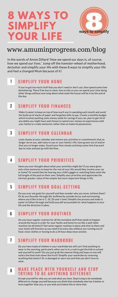 8 ways to simplify your life. Life with less. Simplify your home. Minimalist Lifestyle, Minimalist Decor, Modern Minimalist, Slow Living, Mindful Living, Frugal Living, Living Simple Life, The Simple Life, Minimalism Living