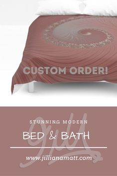 I can create custom coloured home decor for duvet covers, shower curtains, throw pillows, clocks and more! Message me and lets create your dream look!
