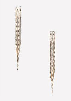 bebe Crystal & Chain Earrings
