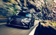 Download wallpapers Lexus LS 500h, 4k, road, 2018 cars, luxury cars, new LS, Lexus
