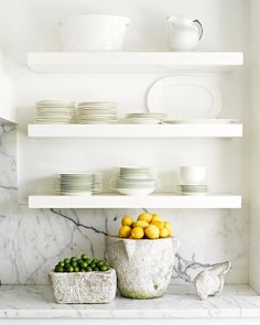 still in love with open shelving in the kitchen