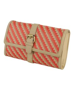 Bright woven clutch from Forever 21