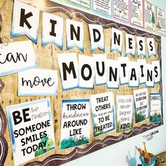 Teachers are you looking for kindness ideas to decorate your door, bulletin board, or elementary school hallway? Add these kindness quote reflection a. Hallway Bulletin Boards, Counseling Bulletin Boards, Kindness Bulletin Board, Elementary Bulletin Boards, Bulletin Board Letters, Back To School Bulletin Boards, School Counseling, Preschool Bulletin, Elementary Library