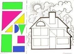 kes yapıştır geometrik şekiller | Evimin Altın Topu