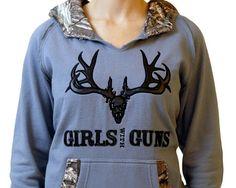 girls with guns buck hoodie