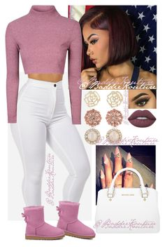 Untitled #340 by describeddifferently ❤ liked on Polyvore featuring Glamorous, UGG Australia, Lime Crime, Charlotte Russe, Kate Spade, Carolee and Michael Kors