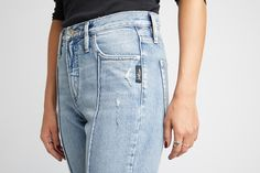 a5f0b175 Spring denim trends - high waisted, light wash, and destruction! # SILVERJEANS #