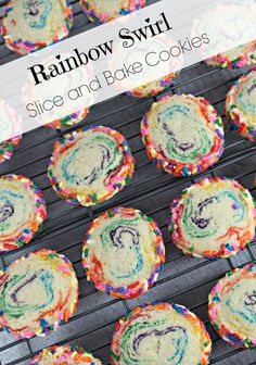 ... slice and bake rainbow sugar cookies rainbow cookies rainbow cookies
