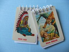 Mini Bound Cowboys and Indians Notebook. $4.50, via Etsy.    cute party favor