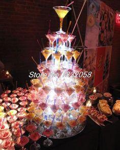 7 Tier Acrylic Round Cupcake Stand Wedding Birthday Party Decoration Fondant Cake Decorating Tools