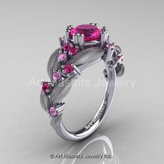 Nature Classic 14K White Gold 1.0 Ct Pink Sapphire by artmasters