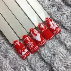 Unusual Christmas Nails Design Idea For Pretty Women Christams Nails, Cute Christmas Nails, Christmas Manicure, Xmas Nails, Christmas Nail Designs, Holiday Nails, Diy Nails, Christmas Christmas, Nail Art Noel