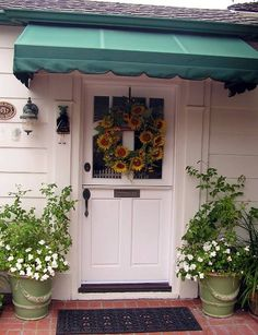 front porch decorating ideas summer   Front Door Decor - Fall Ideas and Decorations for Your Door, Porch ...