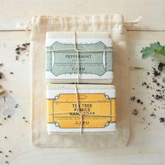 Gardener's Soap Gift set 1 tea tree pumice soap by CaruSkincareCo