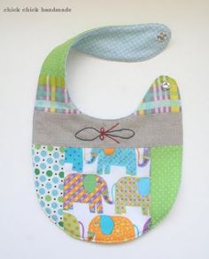 chick chick sewing: My patchwork bib was featured in Sew, Mama, Sew! (plus more handmade items)