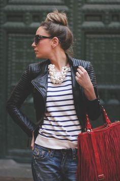 Stylist Tips on How to Wear Fringe   Red Fringe Handbag http://effortlesstyle.com/wear-fringe/