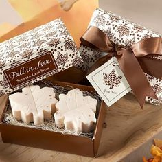 Fall Leaf Soap Favors by Beau-coup