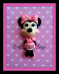 Minnie Inspired Polymer Clay Charm by BeFairyCreative on Etsy, $8.00