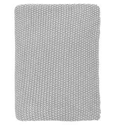 Přehoz Knitted Light Grey 130x180 | Nordic Day Crochet Wool, Dark Grey, Knitting, Living Room, Bedroom, Decor, Decoration, Tricot, Breien